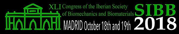 Logo XLI Madrid Congreso SIBB Sociedad Ibérica de Biomecánica y Biomateriales
