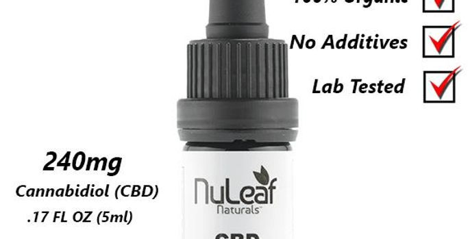 """תמצית שמן המפ פול-ספקטרום 240 מ""""ג (50מ""""ג\מ""""ל) Nuleaf"""