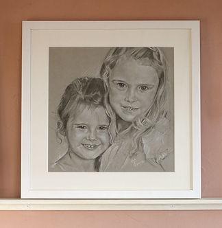 Portraitzeichnung, Kinderzeichnung, Kohlezeichnung, Kreidezeichnung, Personenportrait,