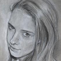 Galerie Personen Pastellblicke, Portrait Kohle, Bleistiftzeichnung