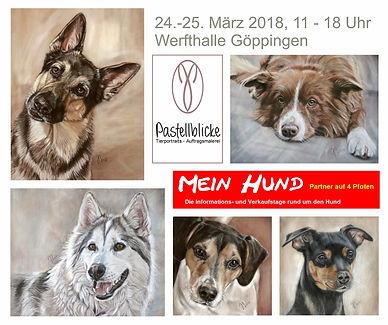 """Pastellblicke bei der Messe """"Mein Hund"""" 2018"""