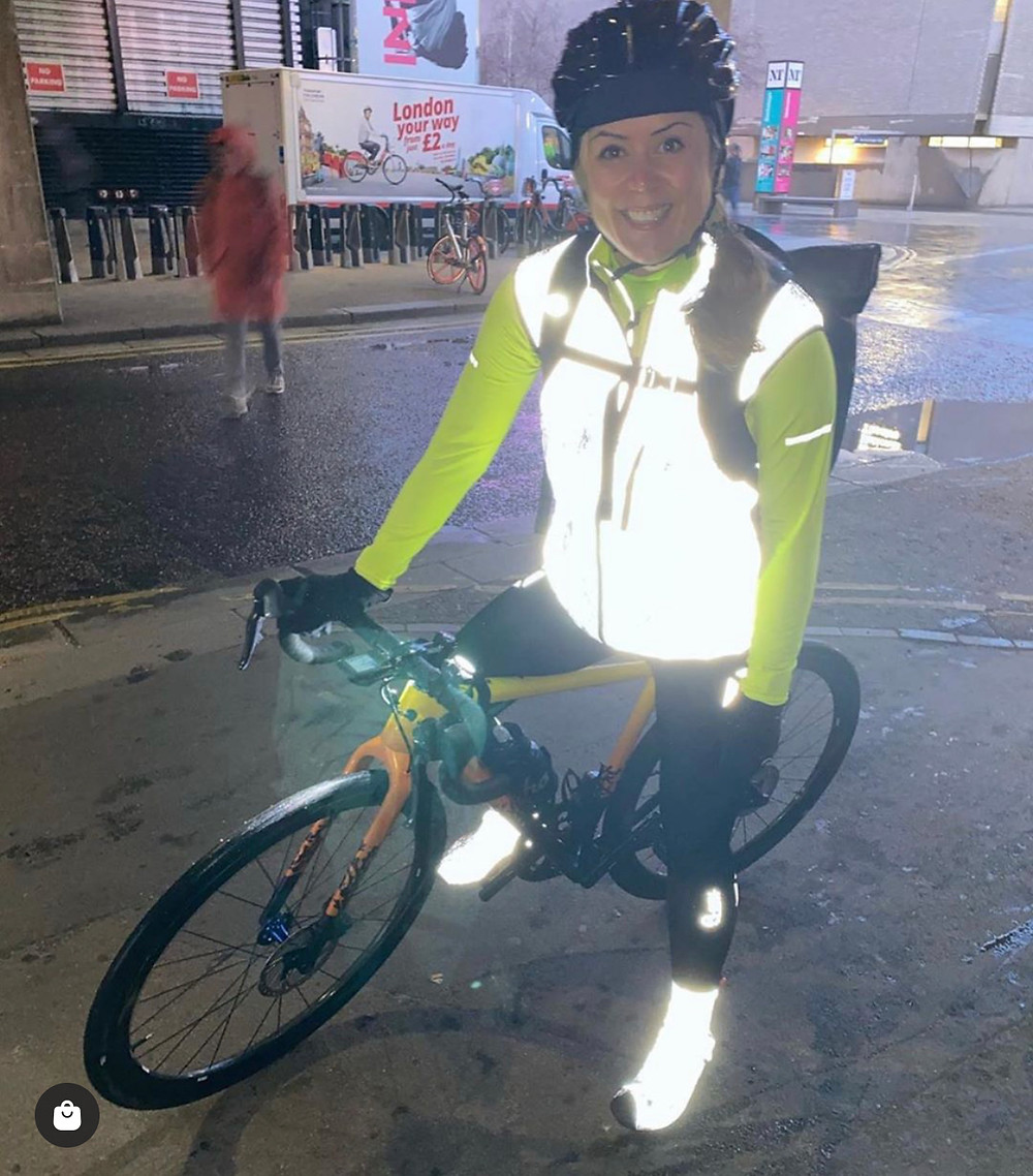 Me on all commutes ... Proviz Gilet and as much reflection that I can fit on my body.  I even have a light pointed at my jacket to light me up all through the ride.