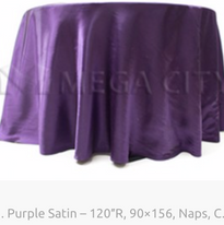 1. Purple Satin – 120″R, 90×156, Naps, C