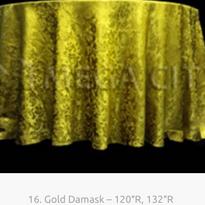 16. Gold Damask – 120″R, 132″R