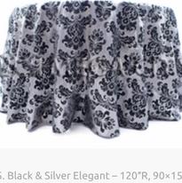 5. Black & Silver Elegant – 120″R, 90×15