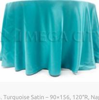 3. Turquoise Satin – 90×156, 120″R, Naps