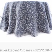 4. Silver Elegant Organza – 120″R, 90×15