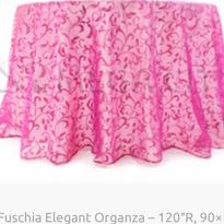 2. Fuschia Elegant Organza – 120″R, 90×1