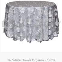 16. White Flower Organza – 120″R.png