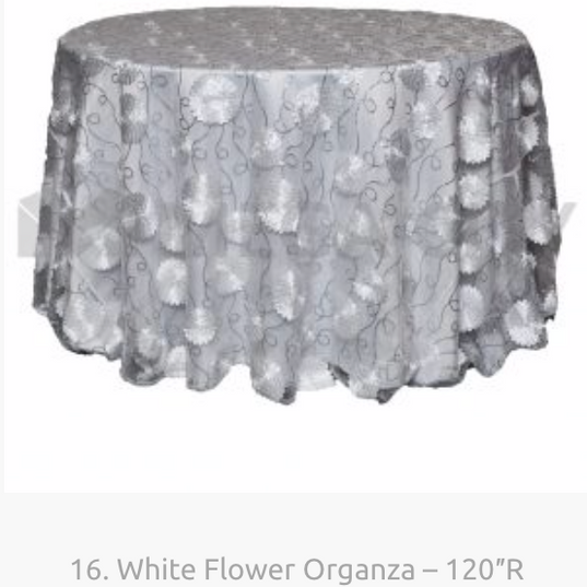 16. White Flower Organza – 120″R.png