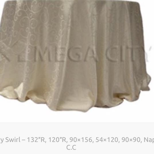 4. Ivory Swirl – 132″R, 120″R, 90×156, 54×120, 90×90, Naps, C.C