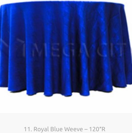 11. Royal Blue Weeve – 120″R