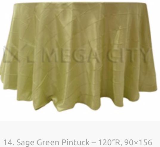 14. Sage Green Pintuck – 120″R, 90×156.p