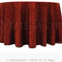 17. Red Damask – 120″R, 72×72, Naps