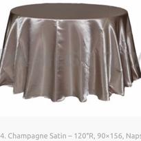14. Champagne Satin – 120″R, 90×156, Nap