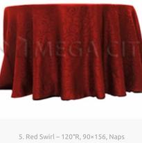 5. Red Swirl - 120R, 90x156, Naps