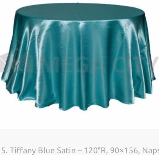 15. Tiffany Blue Satin – 120″R, 90×156,