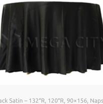 7. Black Satin – 132″R, 120″R, 90×156, N