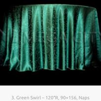 3. Green Swirl – 120″R, 90×156, Naps
