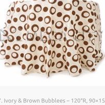 17. Ivory & Brown Bubblees – 120″R, 90×1