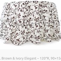 2. Brown & Ivory Elegant – 120″R, 90×156