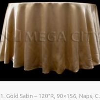 11. Gold Satin – 120″R, 90×156, Naps, C.
