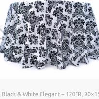 4. Black & White Elegant – 120″R, 90×156