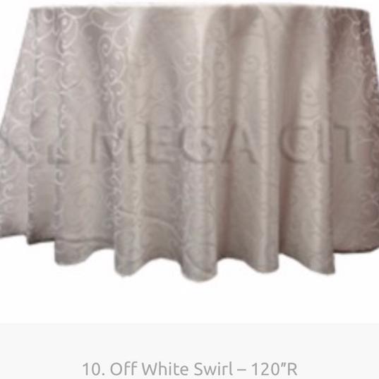 10. Off White Swirl – 120″R