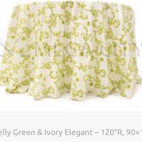 8. Kelly Green & Ivory Elegant – 120″R,