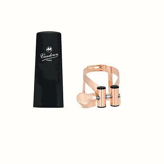 Vandoren Ligatuur + Plastic Beschermkap M/O voor Bas Klarinet - Pink Gold