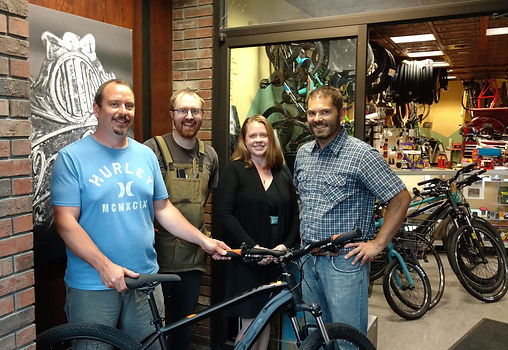 Vermont Bicycle Shop, Positive Pie and Barre Partnership present the winner of the Barre Heritage Festival bicycle raffle