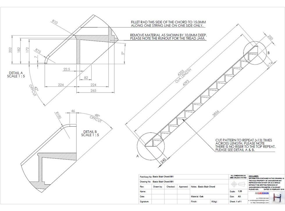 Basic Stair Chord Drawing - ahcadesign.J