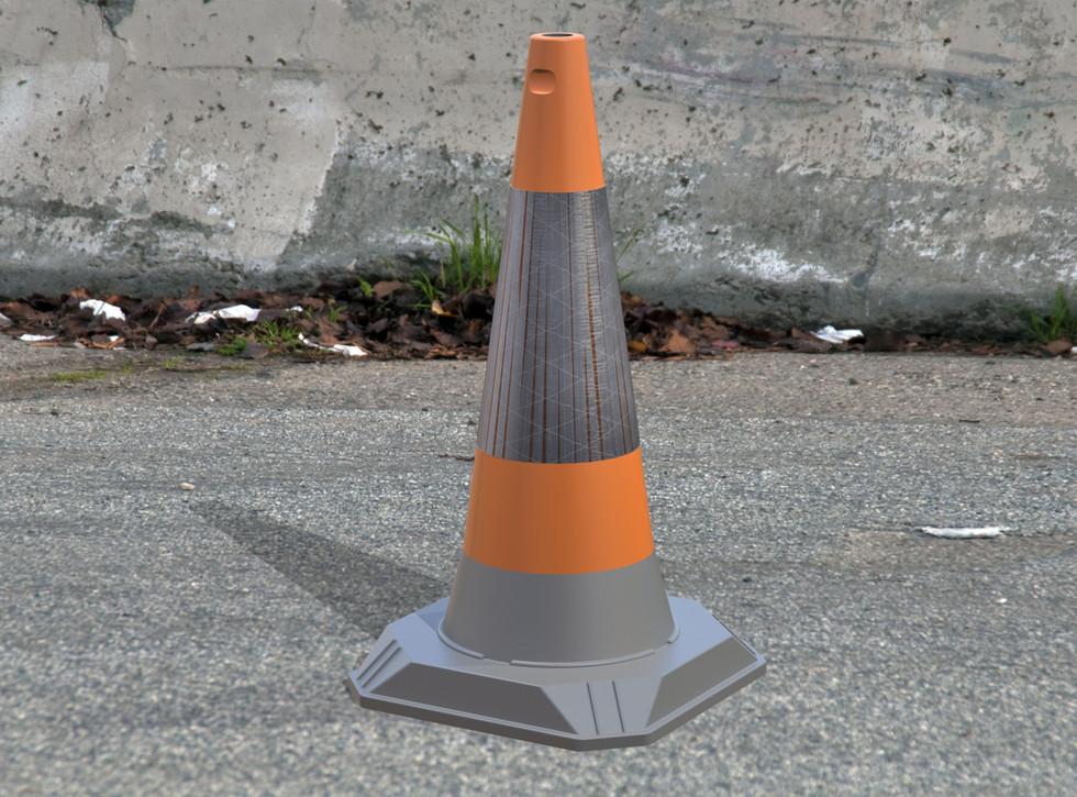 JSP - Traffic Cone - Ren 011.JPG