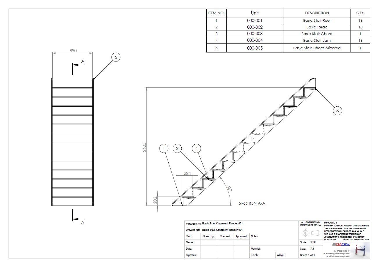 Basic Stair Casement GA & BOM.JPG