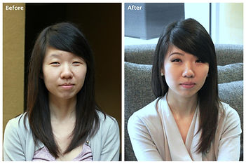 before and after makeup hotos