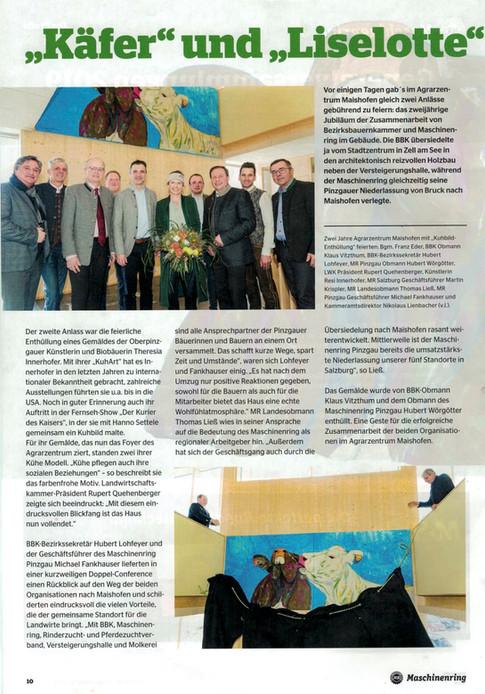 MR- Zeitung Bericht Enthüllung Gemälde