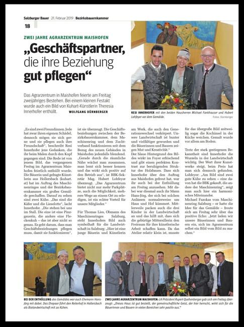 Zeitungsbericht Salzburger Bauer