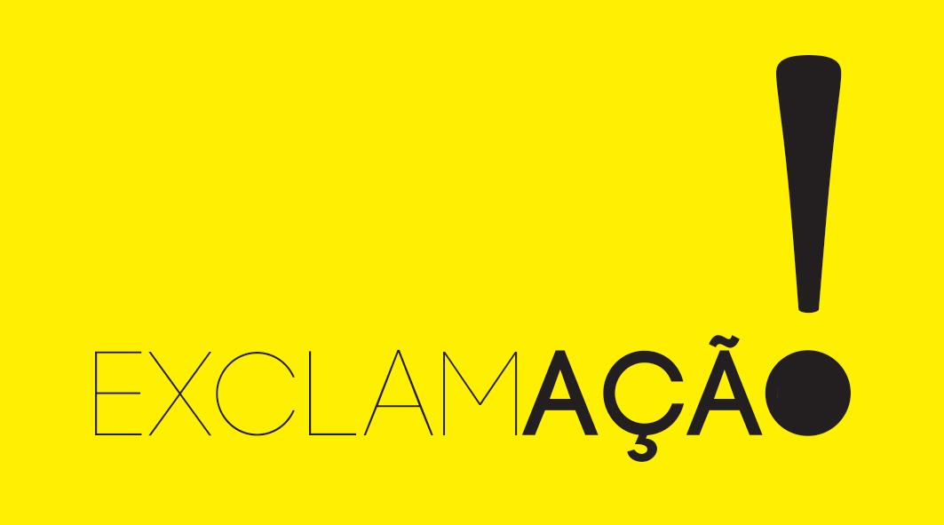 Criação logomarca coletivo Exclamaçã