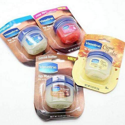 Vaseline Lip Therapy in verschillende varianten.