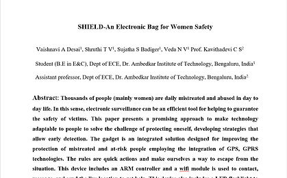 SHIELD-An Electronic Bag for Women Safety
