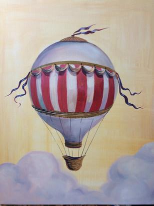 αερόστατο - ακρυλικά σε καμβά