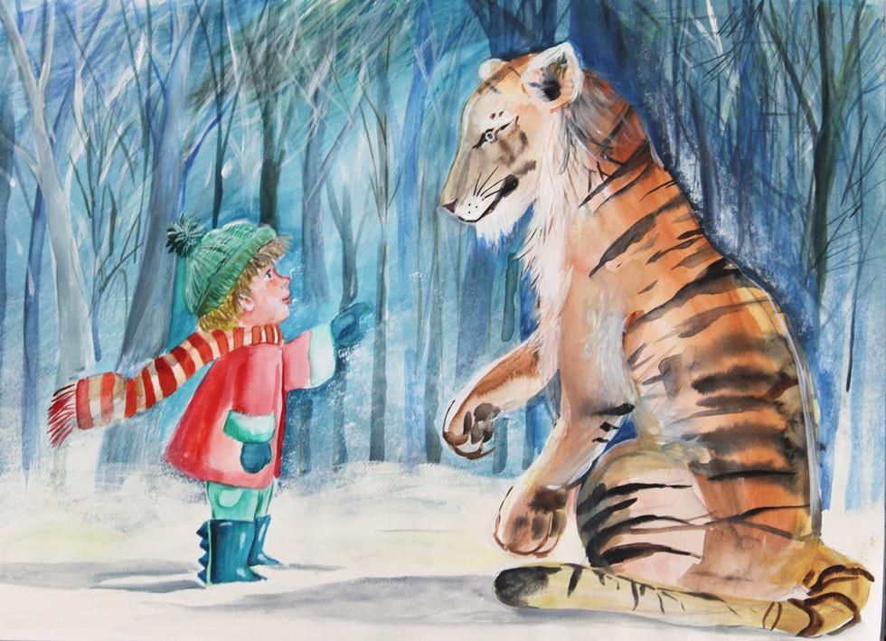 μια ευγενική τίγρης