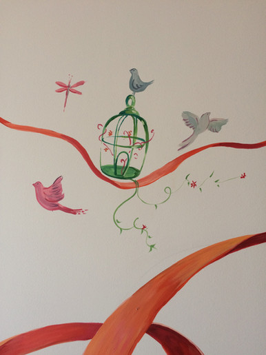 τοιχογραφία σε παιδικό δωμάτιο