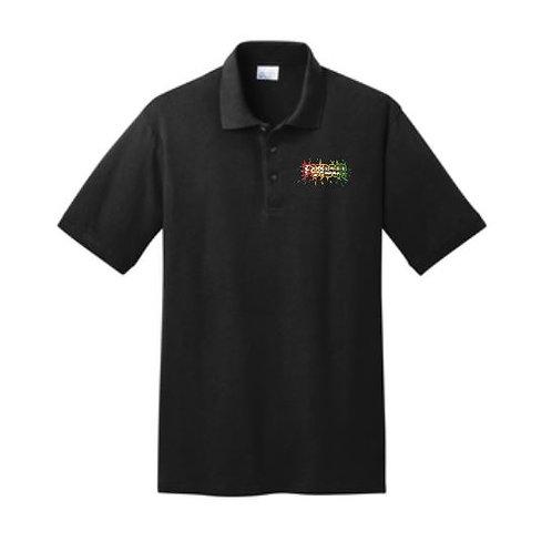 Full Color Splatter Logo Embroidered Polo Shirt