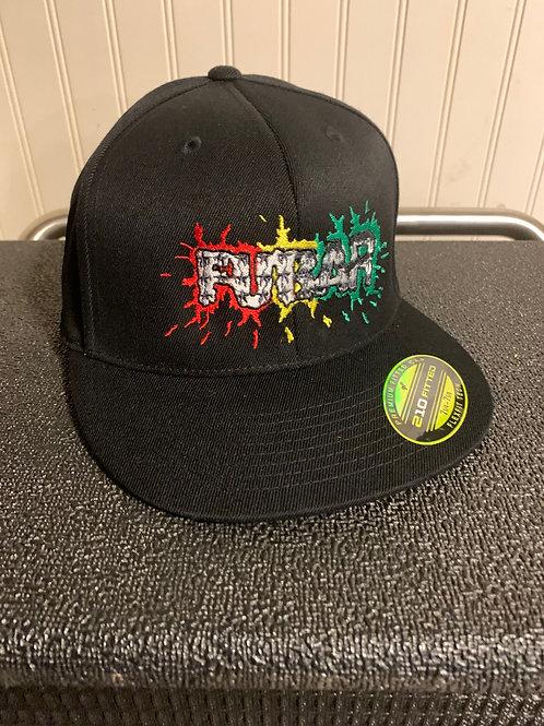 Splatter Logo Fitted Flat Brim Hat