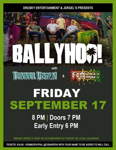 Ballyhoo Friday & Tropidelic Saturday!