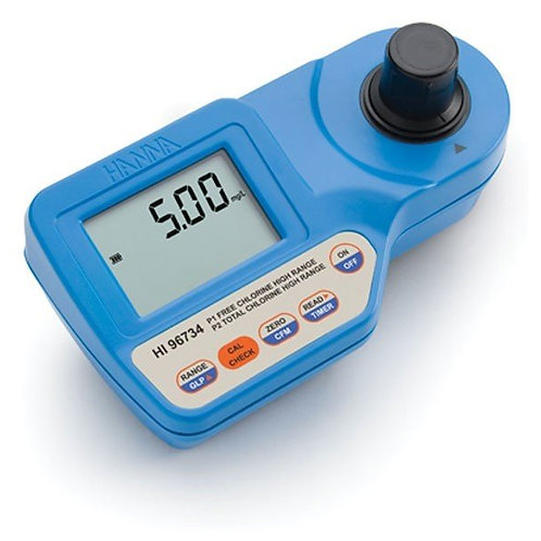 HI-96734 Free and Total Chlorine Meter, High Range