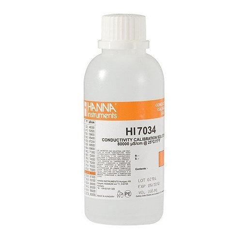 HI-7034M 80 000�S/cm Conductivity Solution, 230 mL bottle