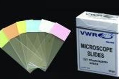 Colour frosted microscope slides