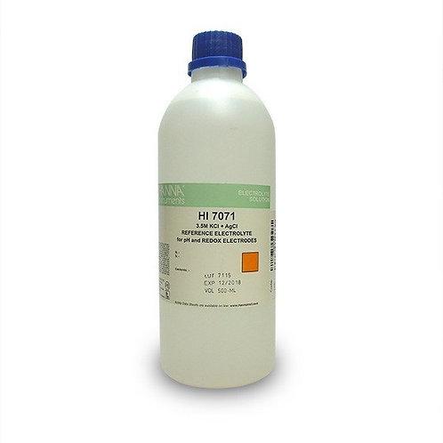 HI-7071L Electrolyte Solution, 3.5M KCl + AgCl, 500mL